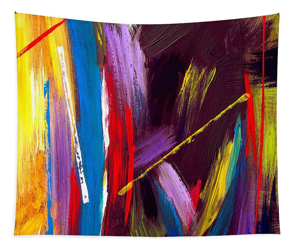 Abstract Tapestry featuring the painting Express Yourself by Ruth Palmer