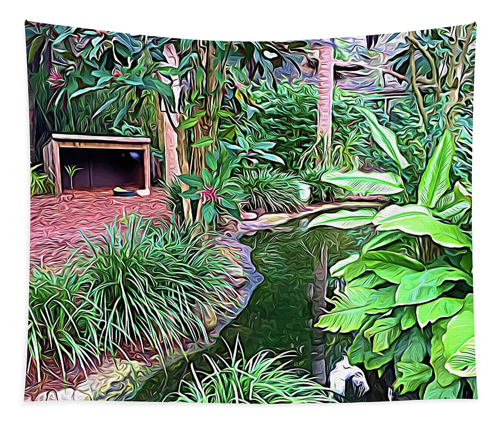 Garden Tapestry featuring the photograph Expressionalism Beautiful Garden by Aimee L Maher ALM GALLERY