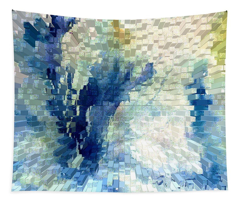 Abstract Tapestry featuring the painting Extrude by Steve Karol