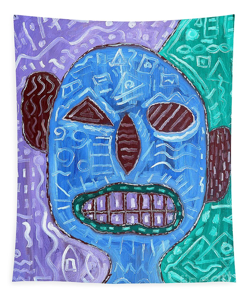 Face Tapestry featuring the painting Eye Of The Beholder by Patrick J Murphy