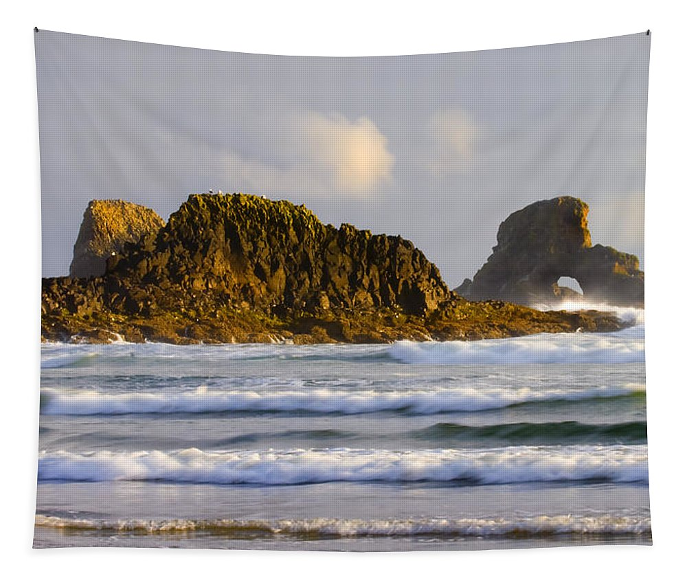Seastacks Tapestry featuring the photograph Eye Of The Storm by Mike Dawson