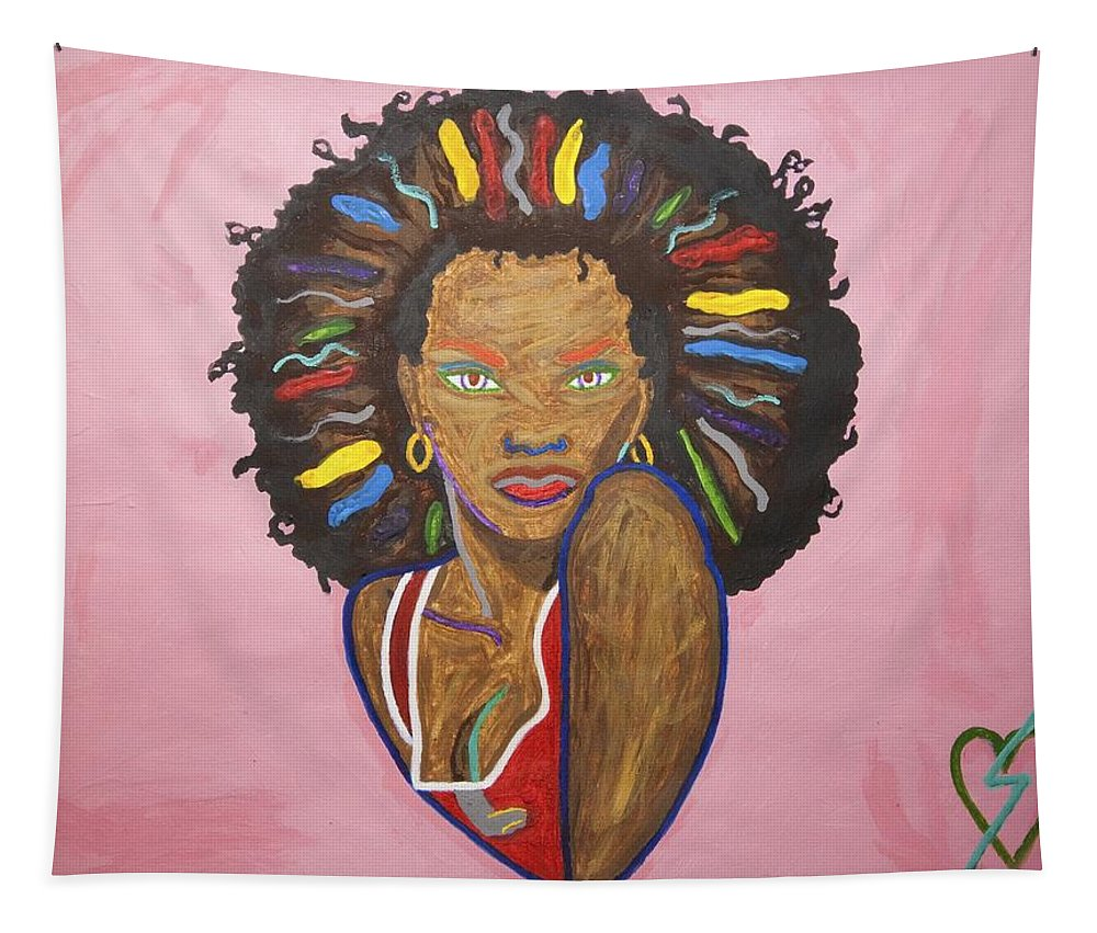 Pop Art Tapestry featuring the painting Erzulie Dantor by Stormm Bradshaw