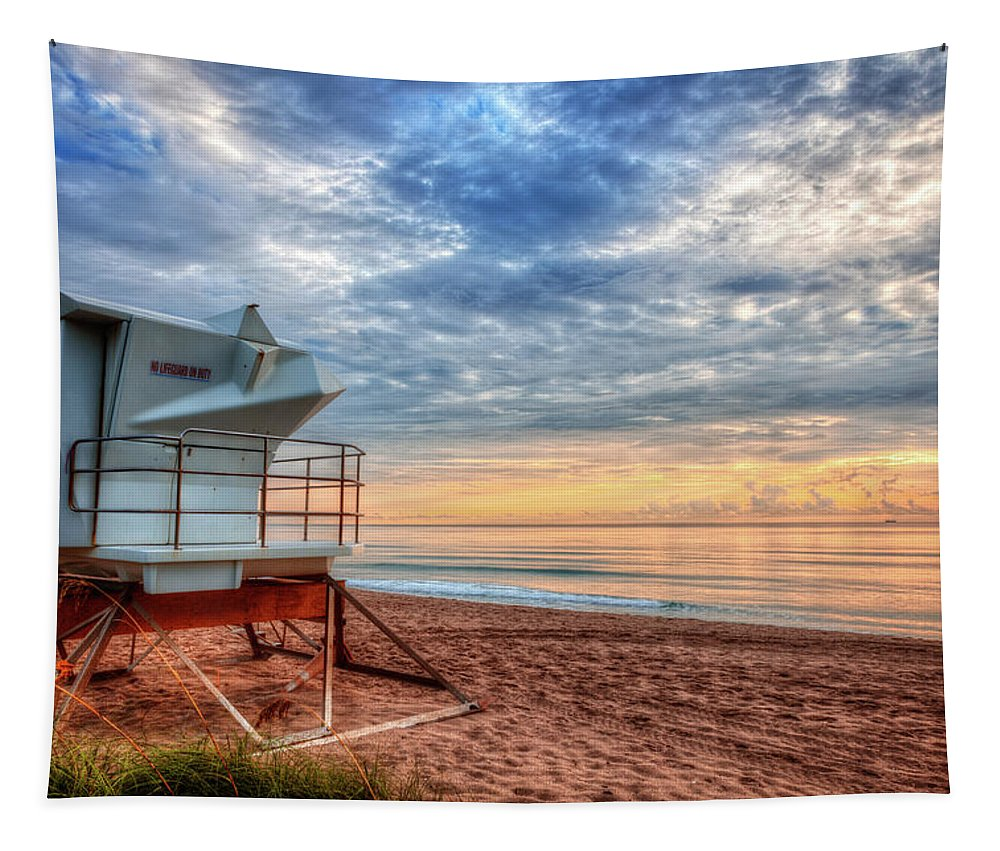 Clouds Tapestry featuring the photograph Facing The Dawn by Debra and Dave Vanderlaan