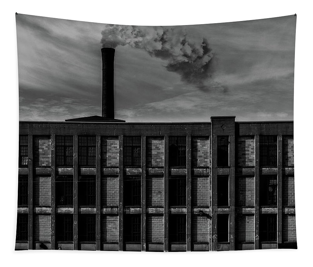 Landscape Tapestry featuring the photograph Factory by Bob Orsillo