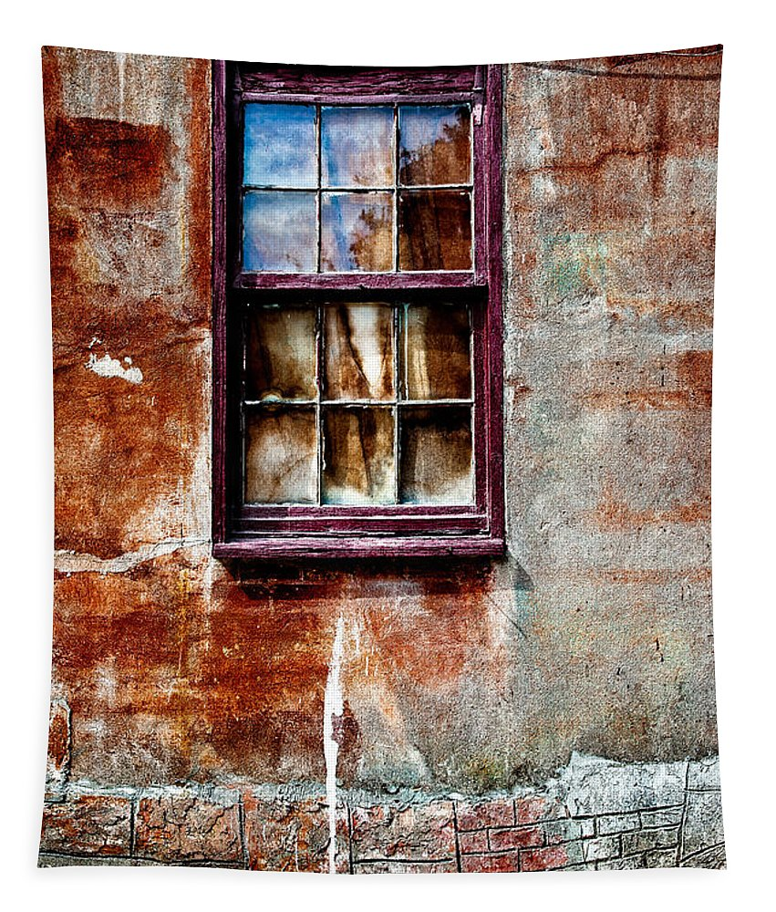 Window Tapestry featuring the photograph Faded Over Time 2 by Christopher Holmes