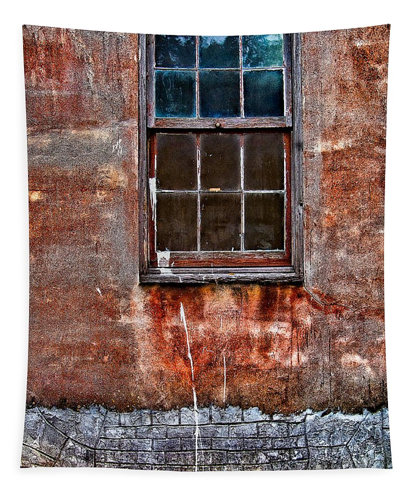 Window Tapestry featuring the photograph Faded Over Time by Christopher Holmes