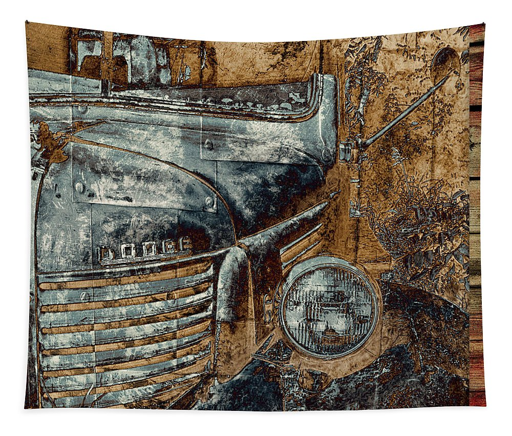Trucks Tapestry featuring the photograph Fading Dodge by John Anderson