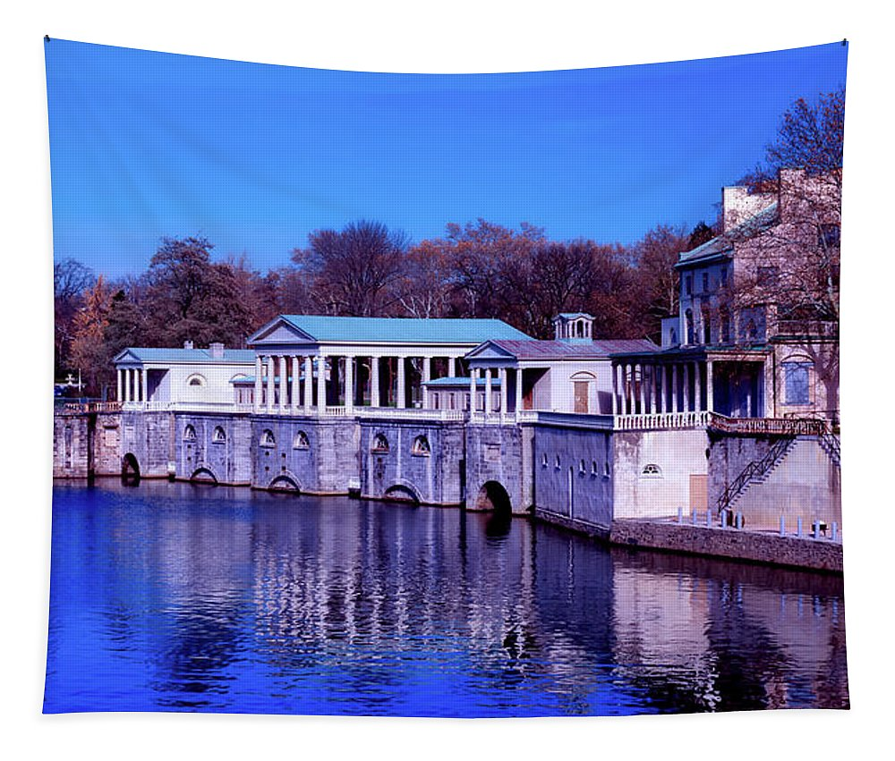 Fairmount Water Works Tapestry featuring the photograph Fairmount Water Works - Philadelphi by Mountain Dreams
