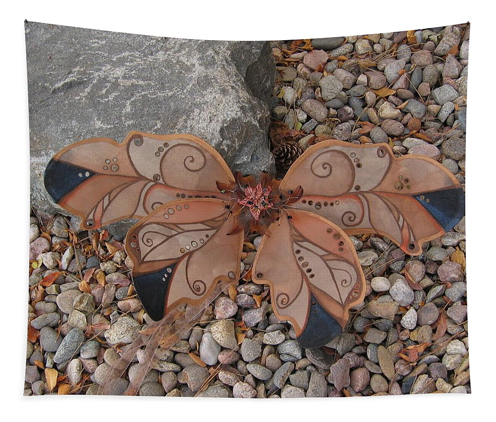 Fairy Tapestry featuring the photograph Fairy Wings- Brown by Katherine Nutt