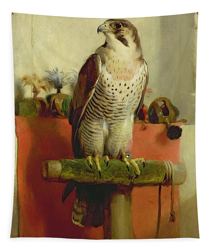 Falcon Tapestry featuring the painting Falcon by Sir Edwin Landseer