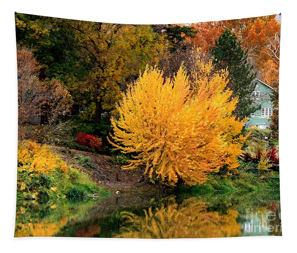 Prosser Tapestry featuring the photograph Fall Fireworks by Carol Groenen