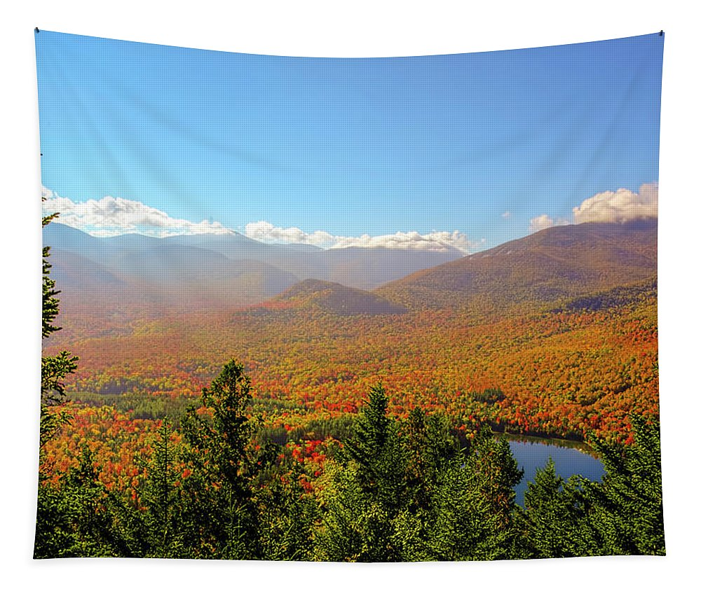 Autumn Photography Tapestry featuring the photograph Fall From Mount Jo by Tony Beaver