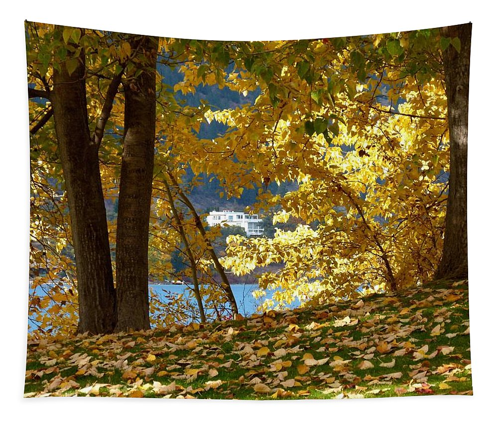 Kaloya Park Tapestry featuring the photograph Fall In Kaloya Park 3 by Will Borden