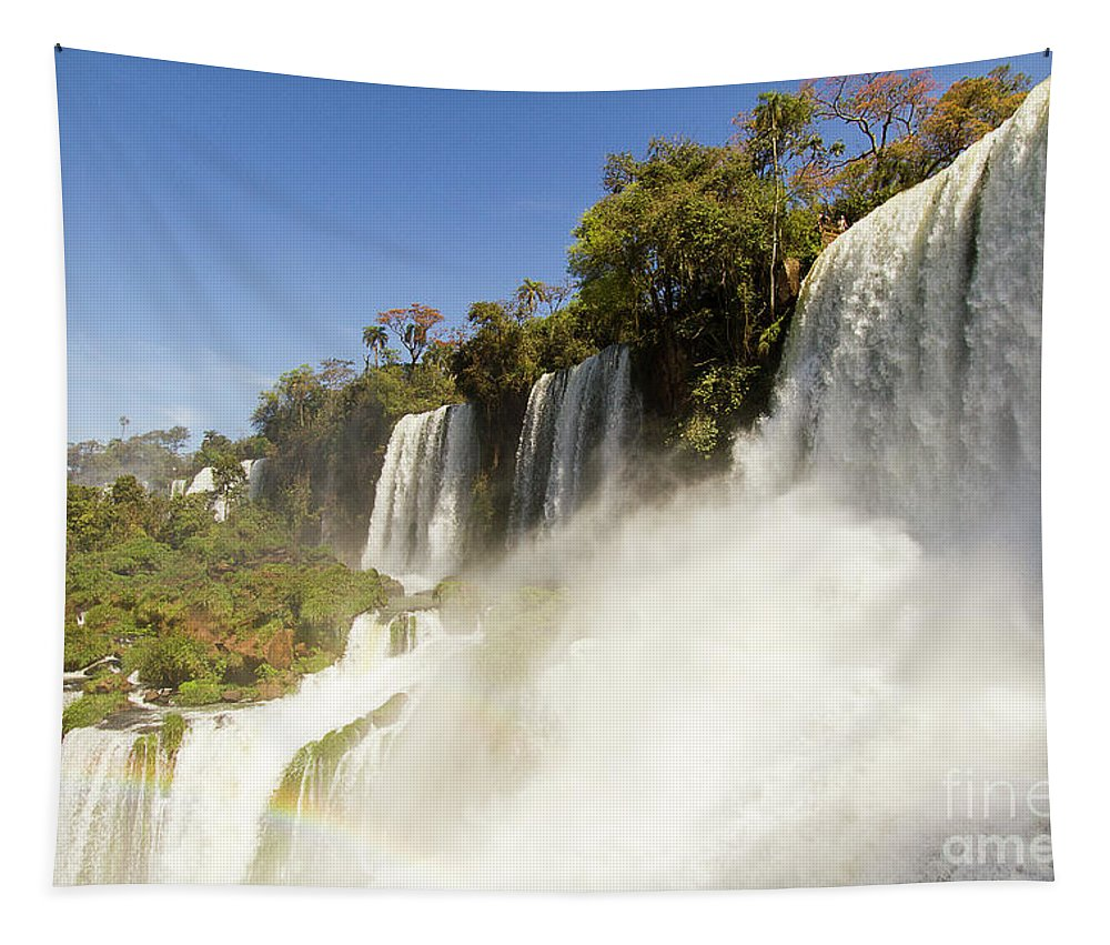 Nature Tapestry featuring the photograph Fall To The Rainbow by Mirko Chianucci