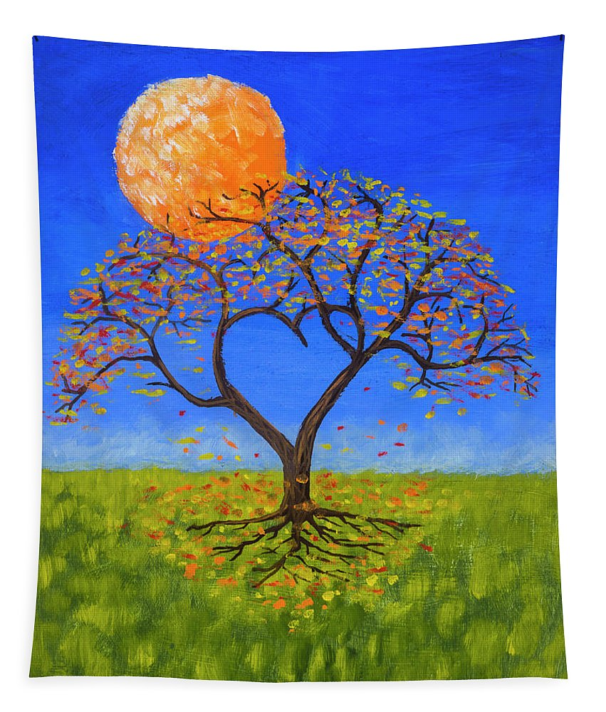 Love Tapestry featuring the painting Falling For You by Jerry McElroy