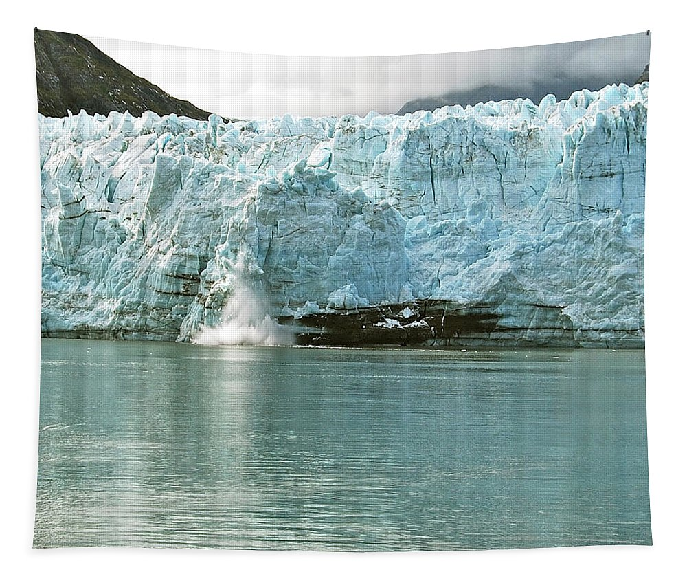 Margerie Tapestry featuring the photograph Falling Ice 8421 by Michael Peychich