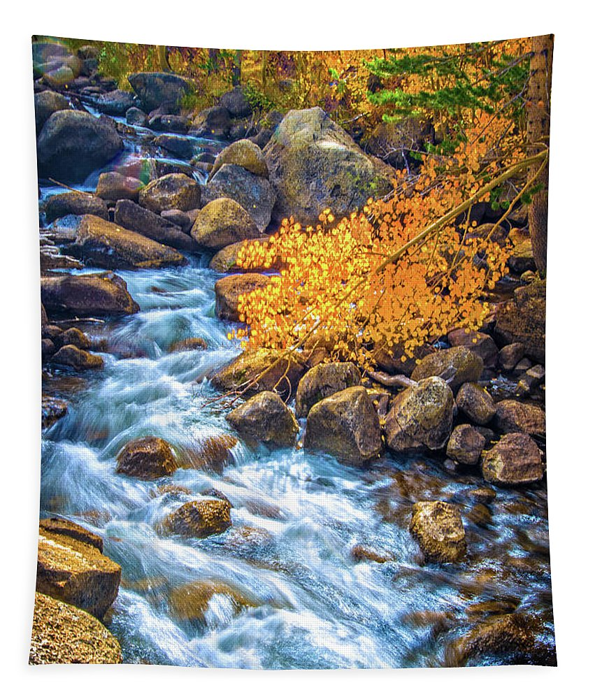 South Lake Tapestry featuring the photograph Fall's Rush To South Lake by Lynn Bauer
