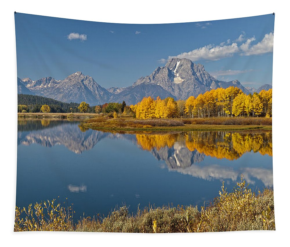Falltime At Oxbow Bend Tapestry featuring the photograph Falltime At Oxbow Bend by Wes and Dotty Weber