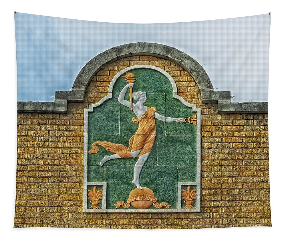 Uvalde Tapestry featuring the photograph Fanciful Facade - Uvalde Texas by Mountain Dreams