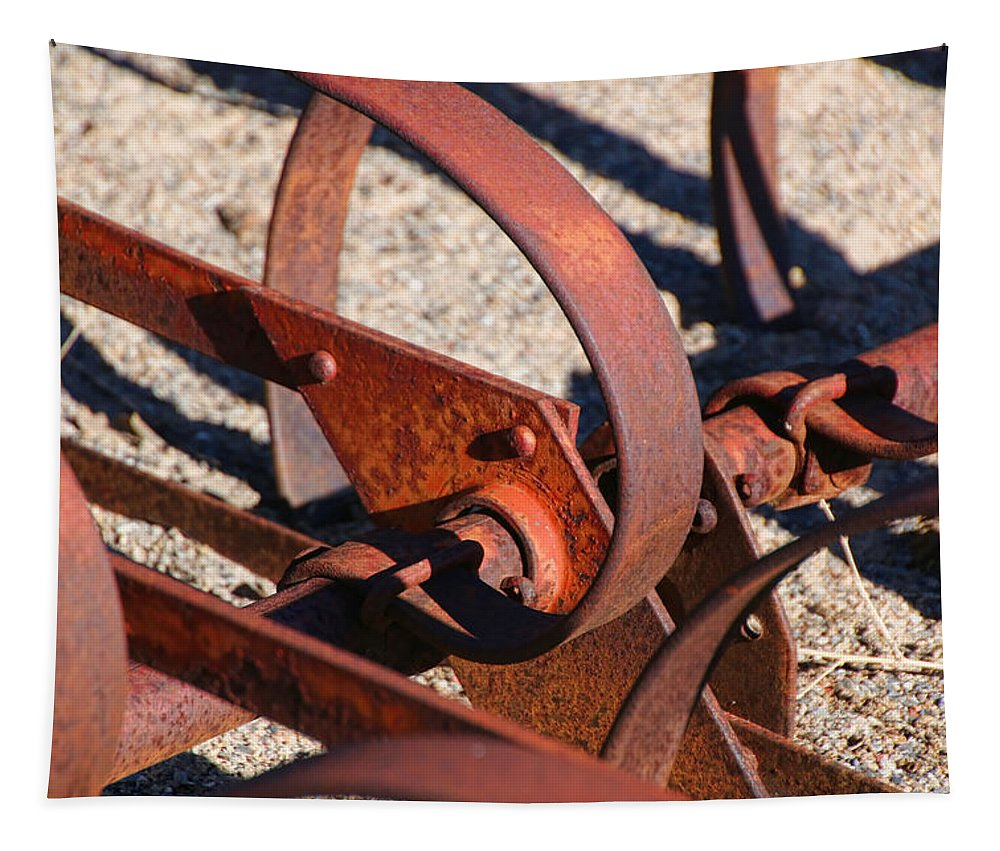 Antelope Island Tapestry featuring the photograph Farm Equipment 4 by Ely Arsha