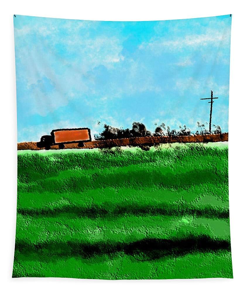Apple Pencil Art Tapestry featuring the painting Farm To Market by Bill Owen