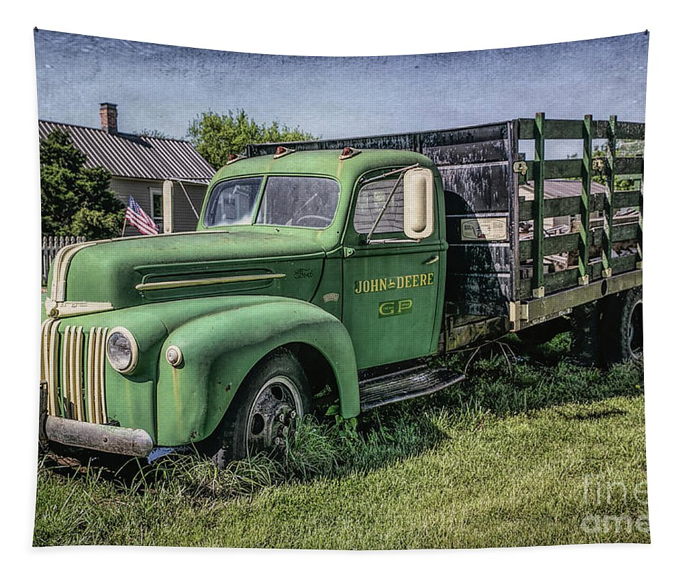 Farm Truck Tapestry featuring the photograph Farm Truck by Lynn Sprowl