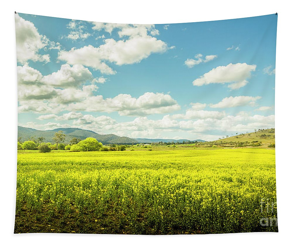 Plain Tapestry featuring the photograph Farmland Colour by Jorgo Photography - Wall Art Gallery