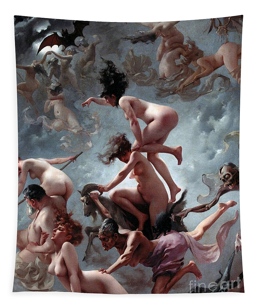 Naked Tapestry featuring the painting Faust's Vision by Luis Riccardo Falero