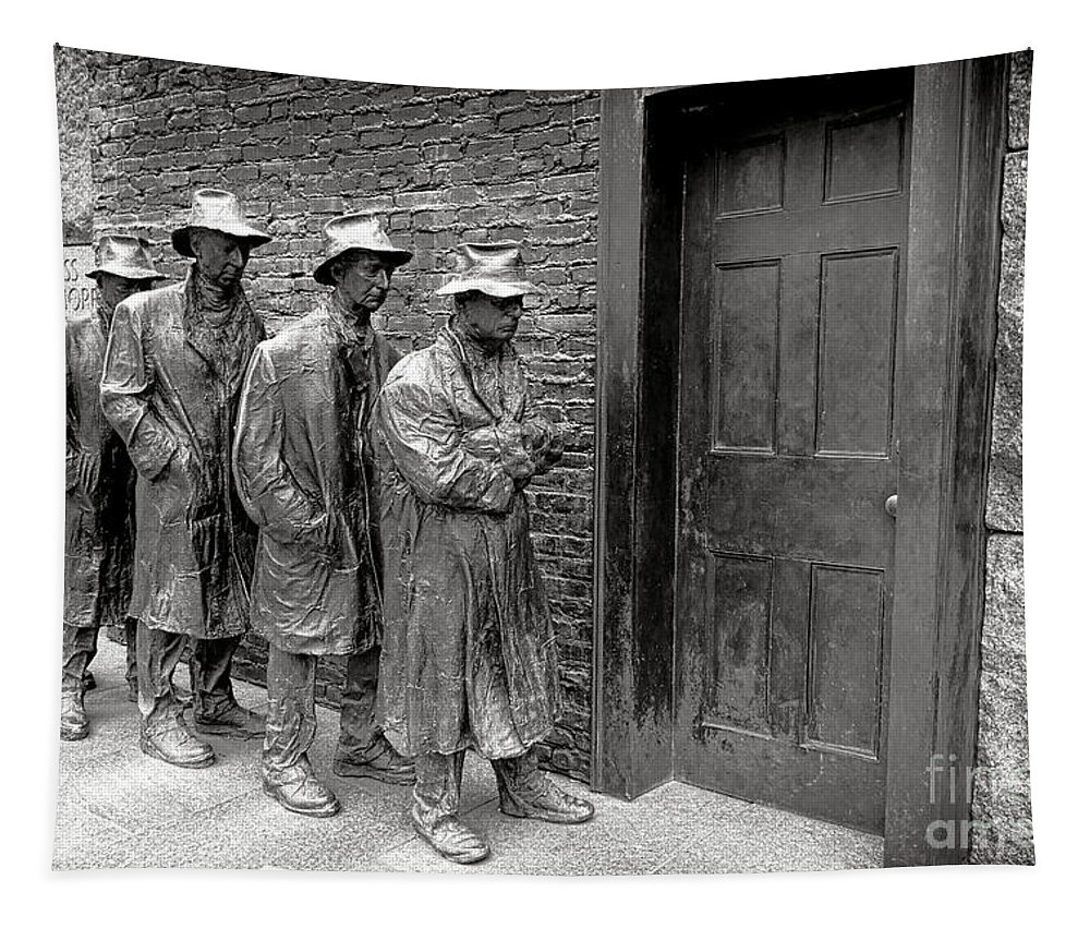 Fdr Tapestry featuring the photograph Fdr Memorial Breadline by Olivier Le Queinec