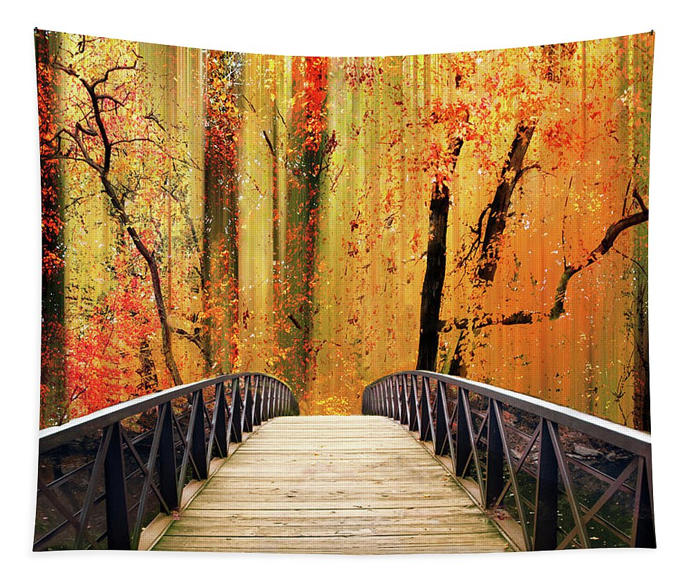 Footbridge Tapestry featuring the photograph Forest Fantasia by Jessica Jenney