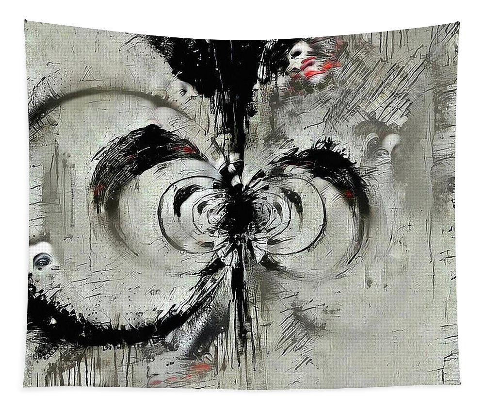 Fractal Tapestry featuring the digital art Fear by Bruce Rolff