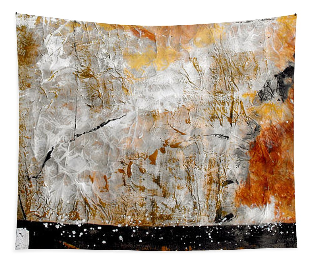 Abstract Tapestry featuring the painting Fear Of The Unknown by Ruth Palmer