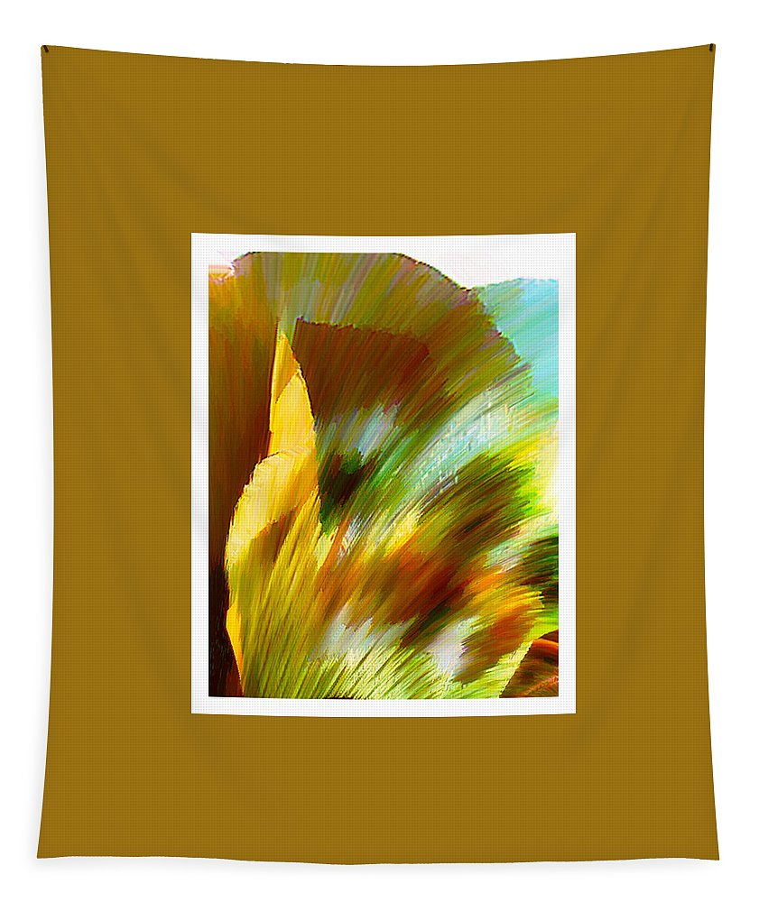 Landscape Digital Art Watercolor Water Color Mixed Media Tapestry featuring the digital art Feather by Anil Nene