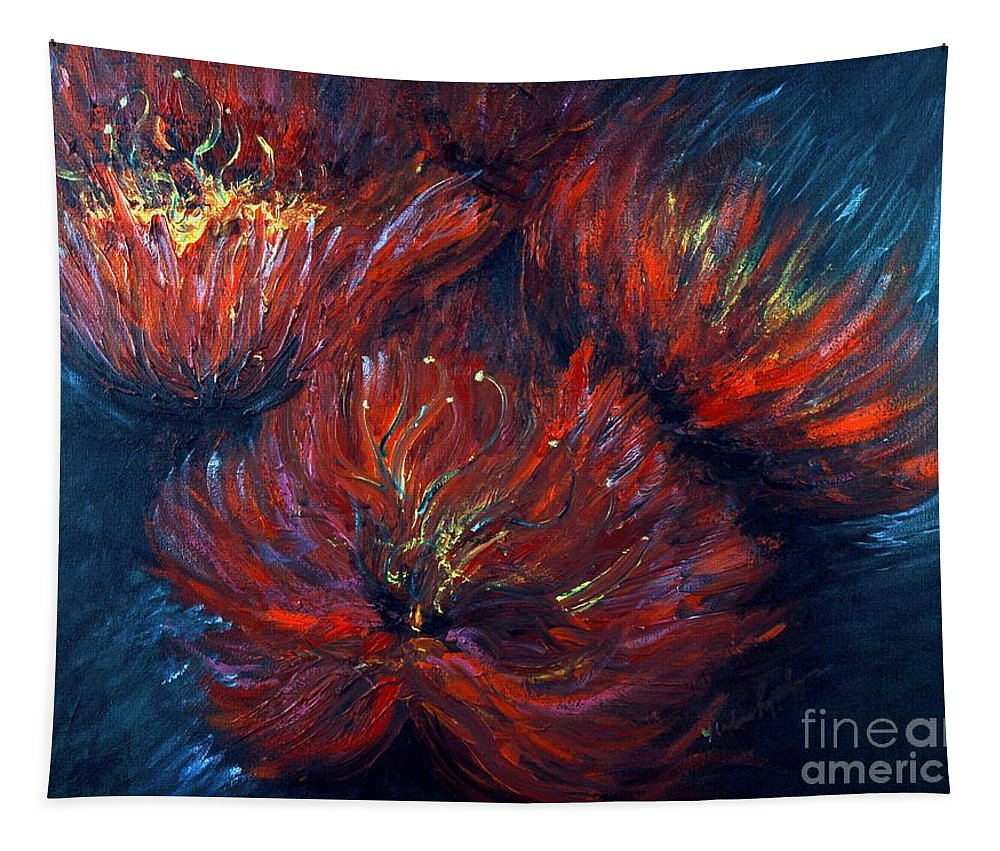 Abstract Tapestry featuring the painting Fellowship by Nadine Rippelmeyer