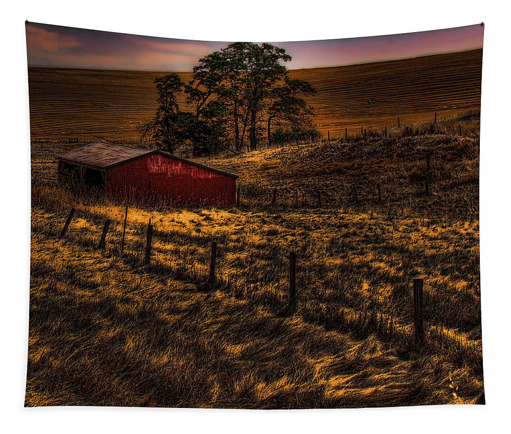 Barn Tapestry featuring the photograph Fencelines by David Patterson