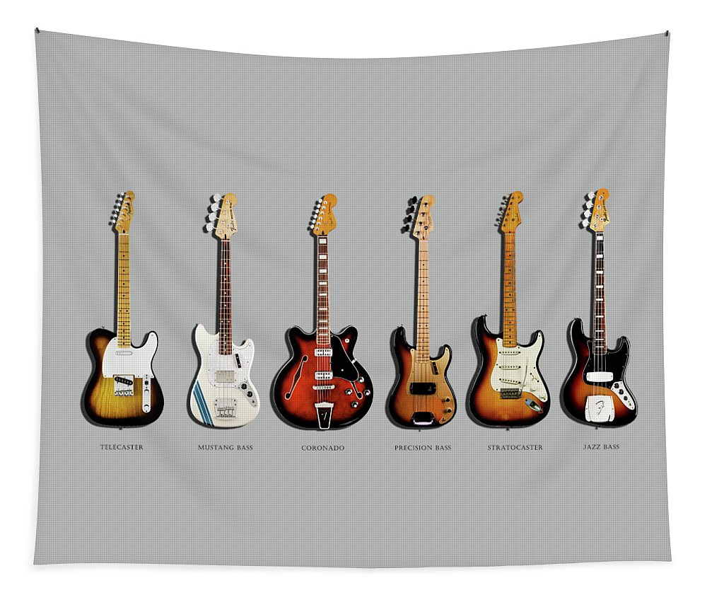 Fender Stratocaster Tapestry featuring the photograph Fender Guitar Collection by Mark Rogan