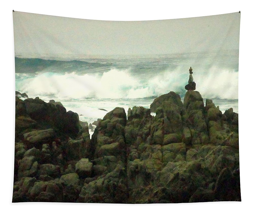 Feng-shui Tapestry featuring the photograph Feng Shui On The Monterey Peninsula by Joyce Dickens