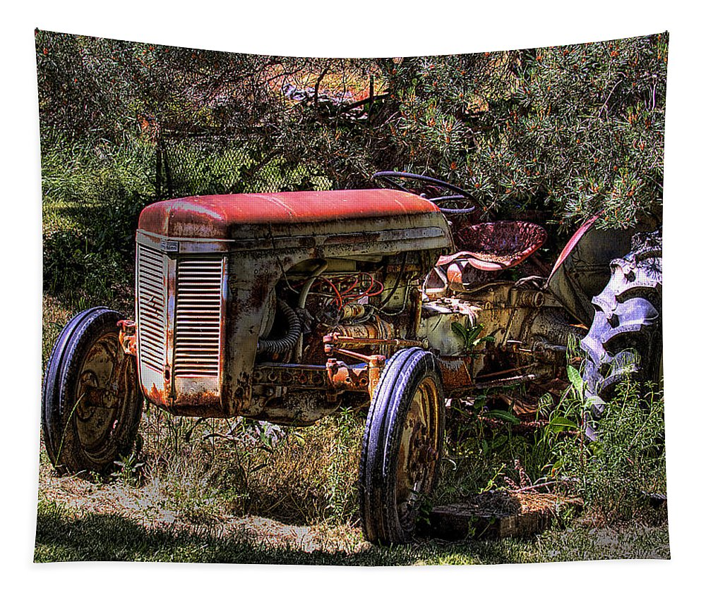 Tractor Tapestry featuring the photograph Ferguson Tractor by David Patterson