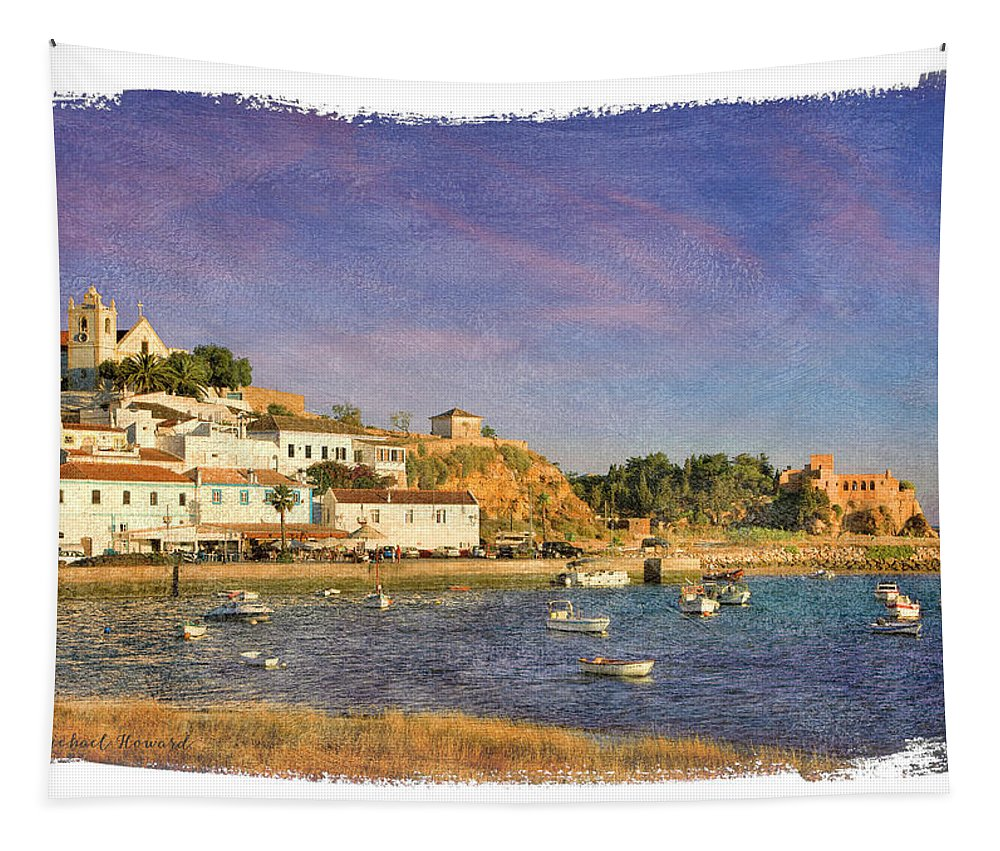 Portugal Tapestry featuring the photograph Ferragudo, Portugal by Mikehoward Photography