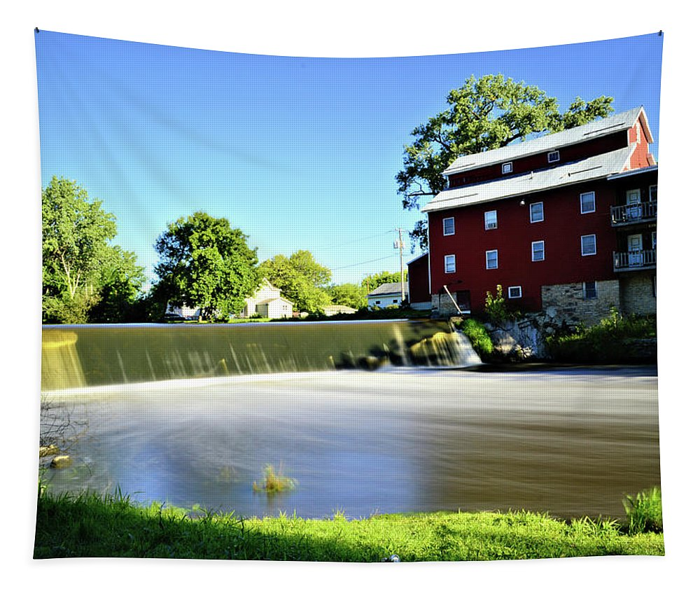 Grist Tapestry featuring the photograph Fertile Dam by Bonfire Photography