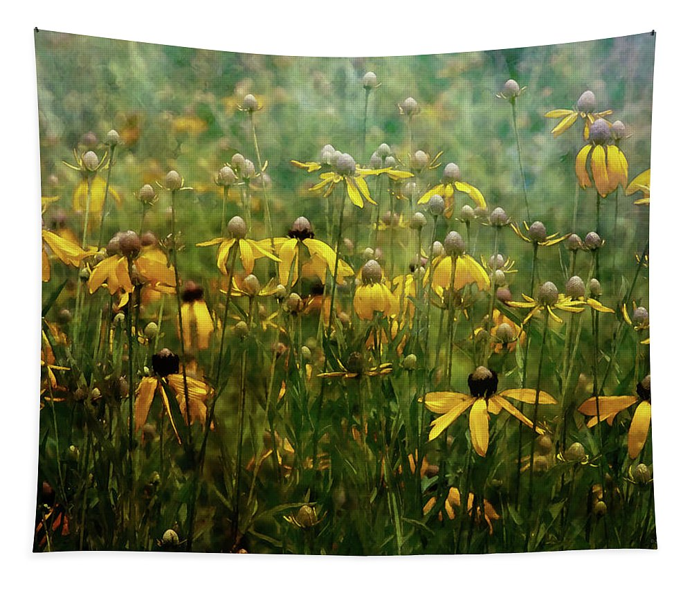 Impressionist Tapestry featuring the photograph Field Of Yellow 2498 Idp_2 by Steven Ward