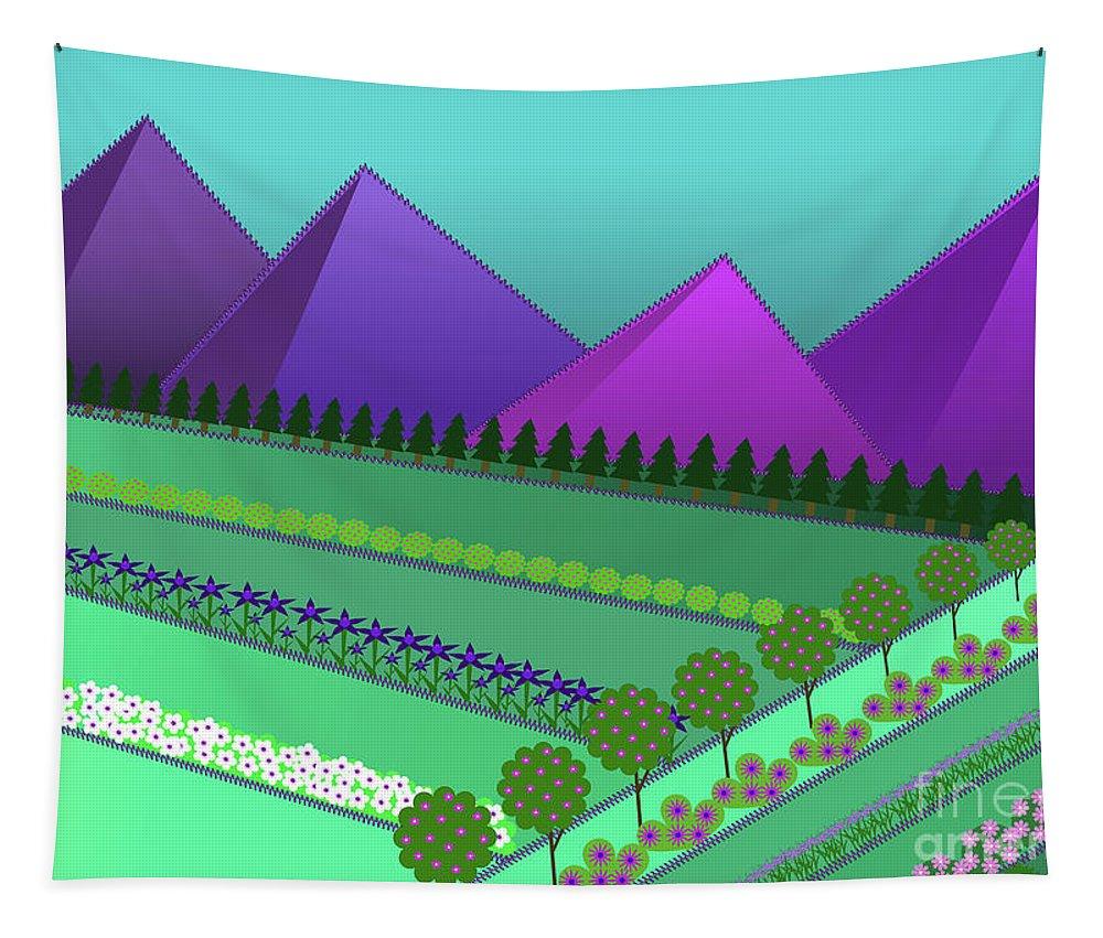 Field Of Dreams Tapestry featuring the digital art Fields Of Dreams by Barefoot Bodeez Art