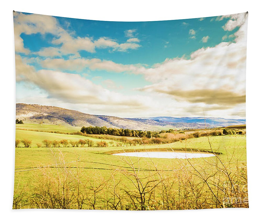 Rural Tapestry featuring the photograph Fields Of Plenty by Jorgo Photography - Wall Art Gallery