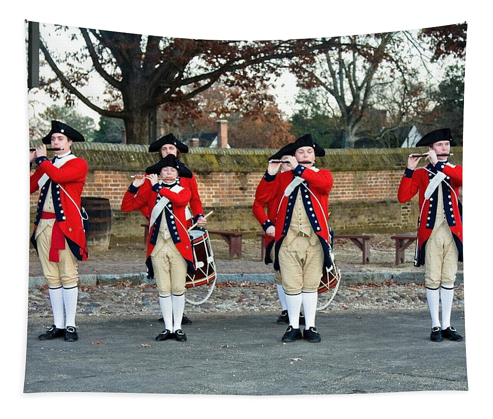 Fifes And Drums Tapestry featuring the photograph Fifes And Drums by Sally Weigand