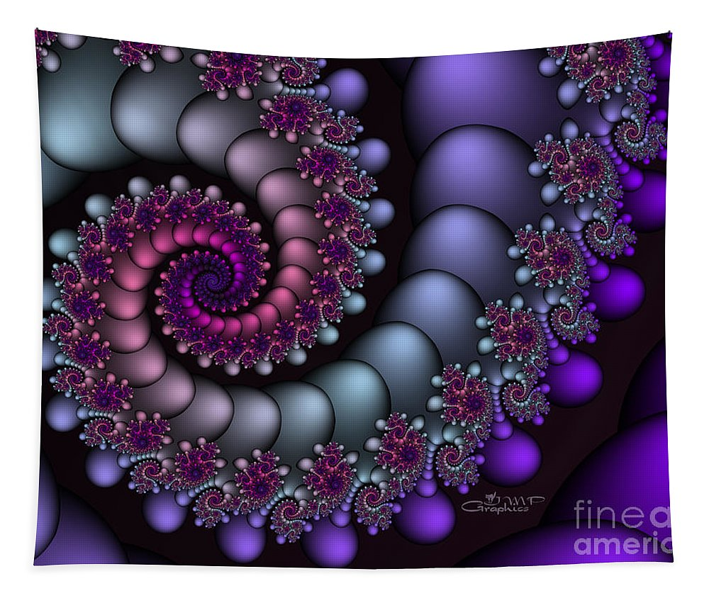 Fractal Tapestry featuring the digital art Final Destination by Jutta Maria Pusl