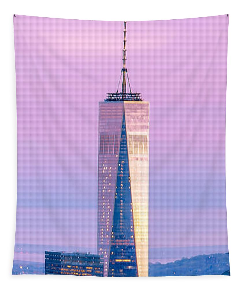 World Trade Center Tapestry featuring the photograph Finance Romance by Az Jackson