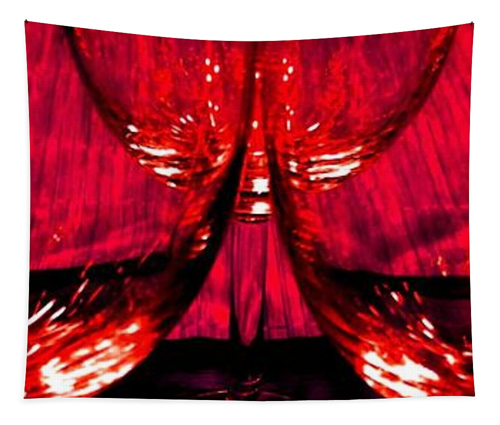 Wine Glasses Tapestry featuring the photograph Fine Wine And Dine 6 by Will Borden