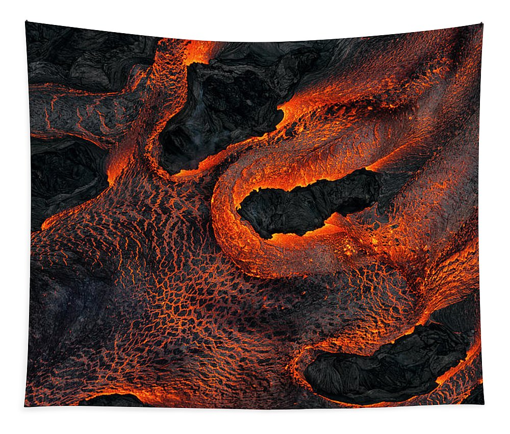 Lava Tapestry featuring the photograph Fingers Of Lava by Christopher Johnson