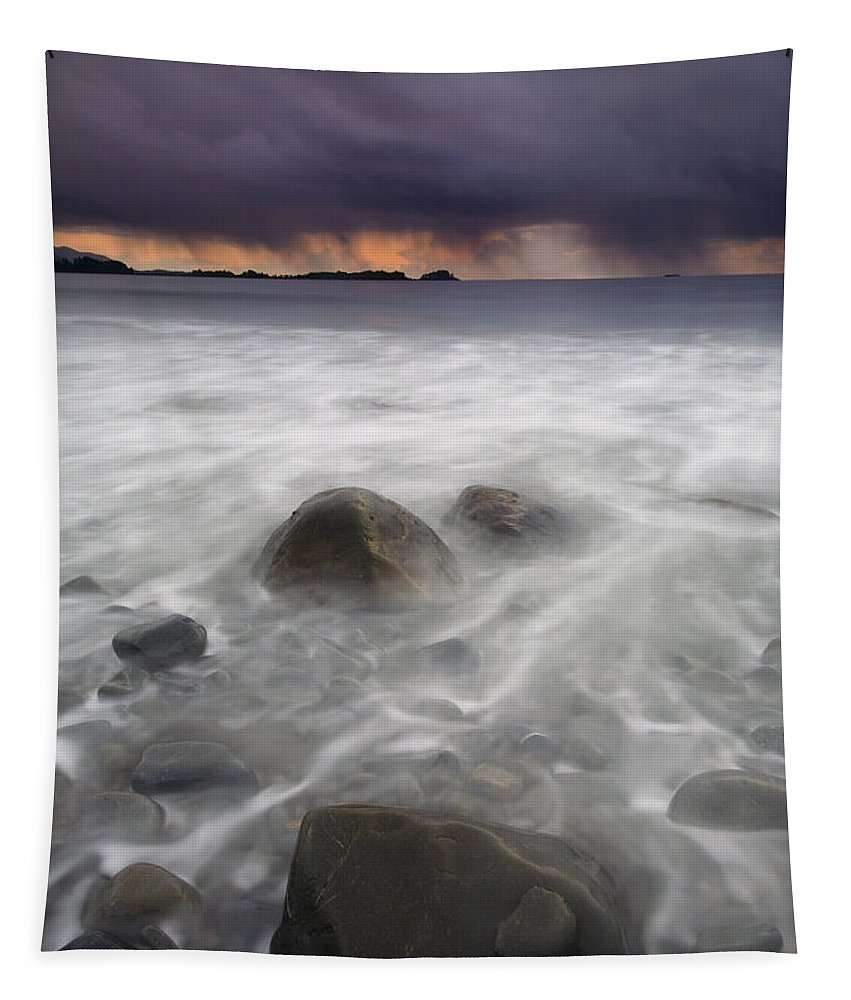 Storm Tapestry featuring the photograph Fingers Of The Storm by Mike Dawson