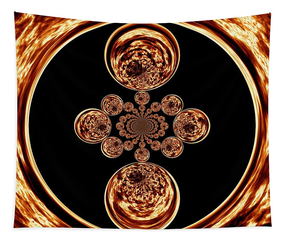 Fire Tapestry featuring the digital art Fire Design by Charleen Treasures